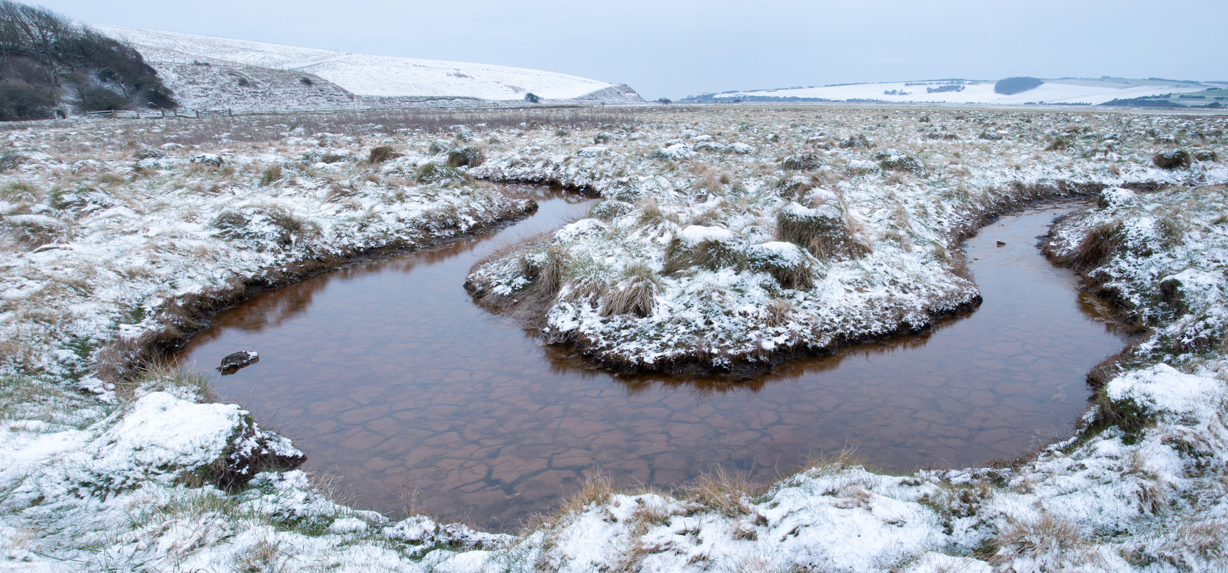 Cuckmere haven in the snow