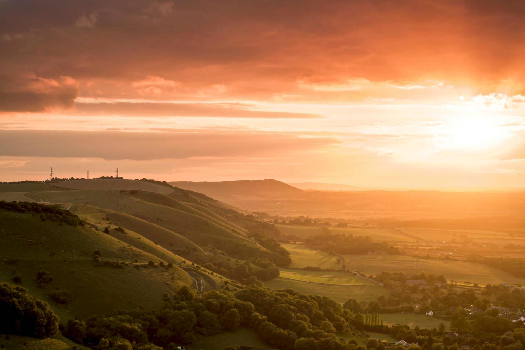 Sunset at Devil's Dyke