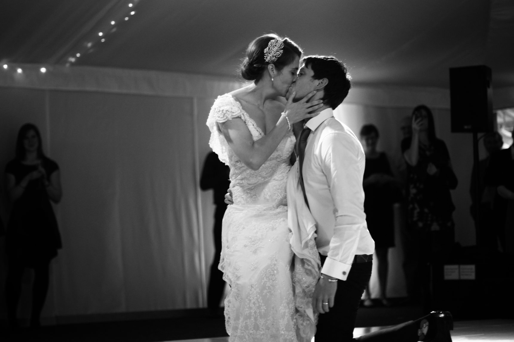 End of the first dance