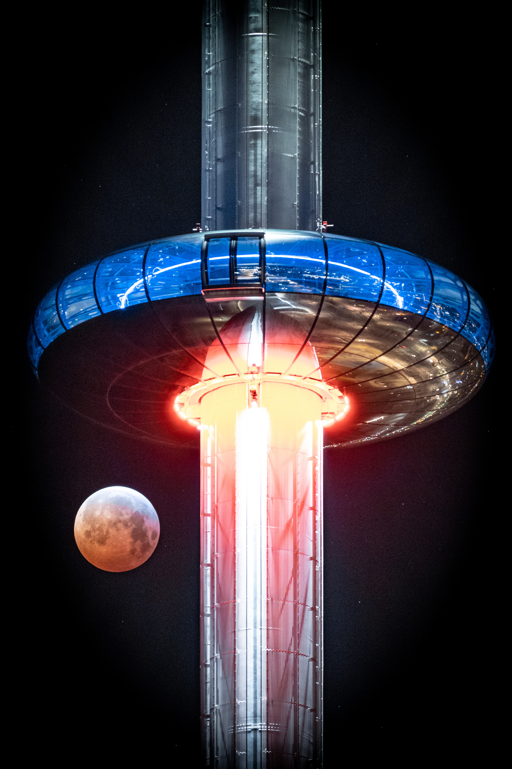 Super blood wolf moon and i360