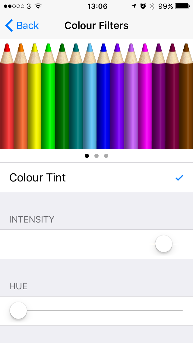 Colour filters on iOS 10