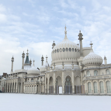 Brighton Pavilion in the snow