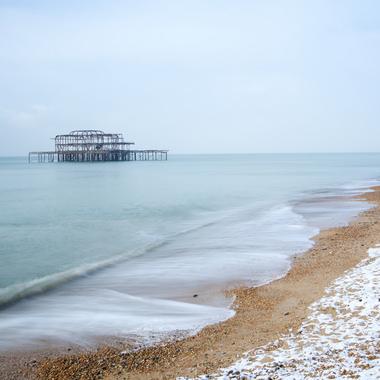 West Pier in snow
